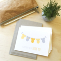 Thank You Baby Neutral Unisex Card Pack - Baby Clothes - Set of 5 Cards - 5P004