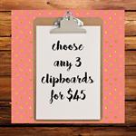 clipboard art wall decor  3 clipboards for $45