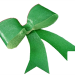 10 PRE CUT EDIBLE RICE WAFER PAPER METALLIC GREEN BOWS CUPCAKE PARTY TOPPERS