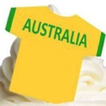 12 PRE CUT EDIBLE RICE WAFER CARD AUSTRALIA FOOTBALL SHIRT CUPCAKE  TOPPERS