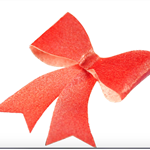 10 PRE CUT EDIBLE RICE WAFER PAPER METALLIC RED BOWS CUPCAKE PARTY TOPPERS