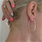 Sterling Silver Oval Hoops Large Oval Hoop Earrings