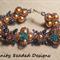Butterflies and Flowers Beaded Bracelet