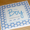 Baby Boy - congratulations card - cars