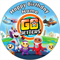 Edible Go Jetters Cake Topper - wafer paper - 19cm round - PERSONALIZED