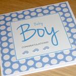 Baby Boy - congratulations card - cars