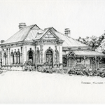 """Rosebank"" Millthorpe NSW Pen Drawing Print"