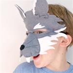 Wolf Mask - Kids Costume - Book week - Wolf Costume - Boys Costume