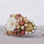 Vintage Bridesmaids Corsage Bracelet, Bridal Corsage, Vintage Corsage