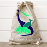 Personalised Kids Backpack, library Bag, Duffle Bag - Dinosaur Stone