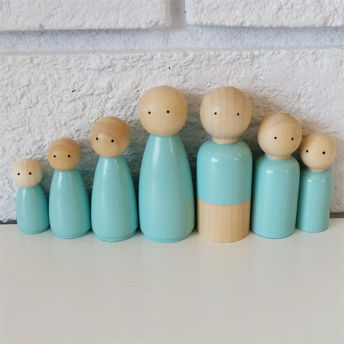 Wooden Peg Doll Family Dolls Princess Scallywag On Madeit