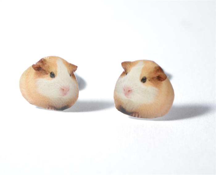 Guinea Pig Cute Earrings Cute Animals Jewellery Stud