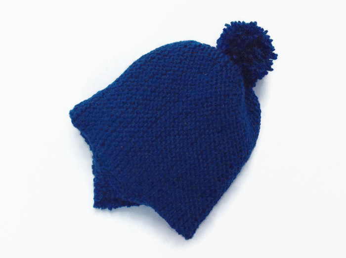Baby hat with earflaps pom pom newborn hand knitted hats winter pixie  bonnet  7ce95fddfb8e