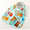 Baby Infant Bib Blue Monkey Cotton Fabric, Bamboo Toweling, and Snap Fastened.