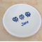 Personalised ring dish, ring bowl. Engagement gift, wedding gift. Bowl with owl