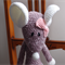 Mindy the house mouse in white & purple: Washable, OOAK