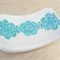 Turquoise porcelain ring dish, ring bowl, ring holder. Ceramic bowl.