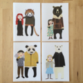 Bears & friends card set
