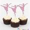 Ballerina Glitter Cupcake Toppers ~ set 12 ~
