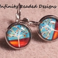 Tree Glass Dome Cabochon Earrings