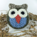 Crochet Owl | Softie | Toy | Rustic | Gift | Toddler | Wool | Hand Crocheted