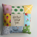 mini patchwork pin cushion
