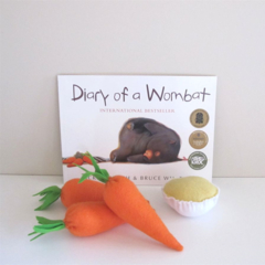 Diary Of a Wombat Book and Story Telling Set