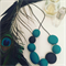 Emerald Polymer Clay Necklace