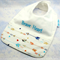 Baby-Feeder Dribble Bib, Brave Heart Cotton Fabric Bamboo Toweling Snap Fastened