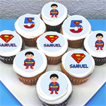 "Superman Personalised Edible Cupcake Toppers - 2"" - PRE-CUT"