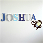 Wooden 12cm Wall or Door Letters. 6 letters and Motif.