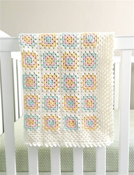 Crochet Blanket Wool White Pastel Bedding Pink Mint Yellow Plushka Design Studio