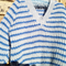 Boy's Fishermans rib jumper to fit 2 - 4 yrs in blue stripe
