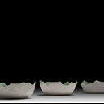 Ceramic Bowl, Green/White
