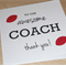 Thank you Coach card - any sport!