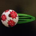Ladybird fabric hairclip