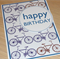 Male Happy Birthday Card -  bikes