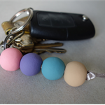 Pastel key ring, key chain or bag charm, back to school key ring, FREE postage