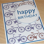 Male Happy Birthday Card -  bikes