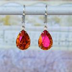 Astral Pink Earring,  Swarovski Earrings, Bridesmaid Earrings,