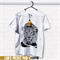 Hand screen printed 'King Leo' Slim Fit T-shirt