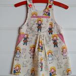 Girls farmyard pinafore - party dress, layer dress,