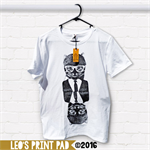 Hand screen printed 'Cool Cat Flip' Slim Fit Adult T-shirt