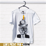 Hand screen printed 'Tick Tick Tiger' Slim Fit Adult T-shirt