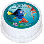 Finding Dory Personalised Round Edible Cake Topper - PRE-CUT