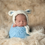 Baby Lamb Bonnet / Unisex Newborn Photography Prop / Unisex Prop / Sheep Hat