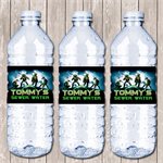 Ninja Turtle Personalised Water Bottle Labels - YOU PRINT