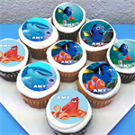 "Finding Dory Personalised Edible Cupcake Toppers - 2"" - PRE-CUT"