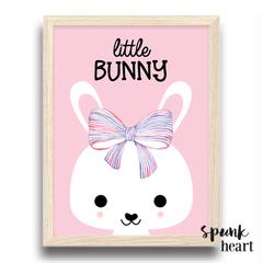 Little Bunny Rabbit Wall Art Print Decor Baby Nursery Kid