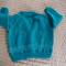 SIZE 3-4 Yrs - Hand knitted cardigan, ocean, green, acrylic, washable, unisex